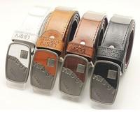 Big Discount New Fashion Men's Faux Leather Shape Metal Buckle Belt 4 Colors PK147