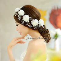 2014 Fast Free Shipping! 6pcs/box Gorgeous Clear Crystals Rhinestones Flowers Wedding Bridal Jewelry Party Hair Jewelry -Hair001