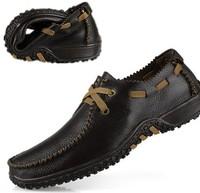 fashion leisure shoes leather men's Doug shoes size  European 37-- 47