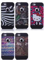 wholesale 2 in1 Fashion HYBRID HARD CASE COVER Dirt-resistant Case For iPhone 5c+Film(Free Gift)
