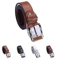 Big Discount  New Fashion Men's Faux Leather Shape Metal Buckle Belt 4 Colors PK149