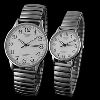Free shipping  fashion watches gift watch digital watch retro elastic band watch SWI-032 couple men Watches
