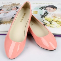 Fashion Pointed Flat Shoes Girl 2014 Candy Color Casual Boat Shoes Women Ballet Flats Shoes Sapatilhas Femininos Ballerina Shoes