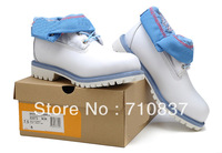 NEW Brand Authentic Men's Tim Boots, Famous Genuine Leather Brand Warmly Boots Best Fashion Sneakers Boots White Color 83073