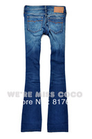 Free Shipping 2013 Italy Brand Female Jeans Fashion Low Waist Slim Mermaid Butt-lifting Big Horn Jeans Big Flare Pants Jeans