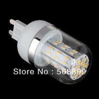 Freeshipping New 5pcs/lot G9 3W 390LM Warm White 48 SMD 3014 LED Corn Light Bulbs 85-265V+Dropshipping
