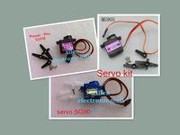 Free shipping!1Set=3pcs Mini Micro Servo kit SG90 + SG91R + MG90S Servos kit high quality Quick shipment