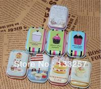 New year sale!New sweet cake series quality iron case  tin box /32 pcs per lot/  Multi-purpose Storage Case Free shipping!