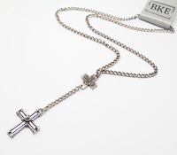 (Min order is $10) Fashion vintage cross long necklace for sweaters