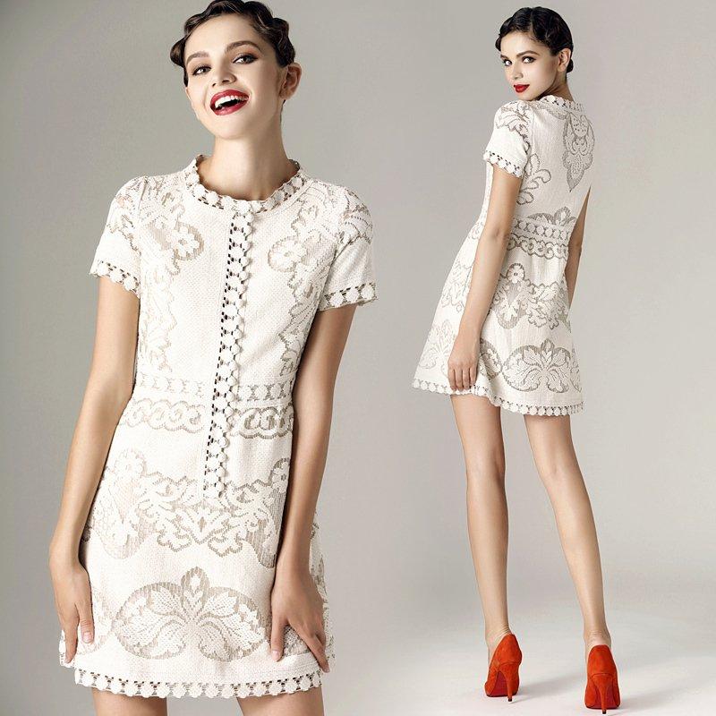 Cream Lace Dress Cream Lace Dress 2 Color