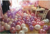 Free Shipping 200 PCS 7'' Helium Latex Pearl Circle Balloons Party Wedding Birthday Christmas Event Decoration Balloon C.B