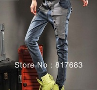 Hot Selling Fashion New Winter Personality Ladies Denim Cross-pants Casual Loose Jeans Women