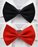 NEW Tuxedo Classic Bowtie Fashion Solid Color Neckwear Adjustable Unisex Mens Bow Tie Polyester Cheap Pre-Tied