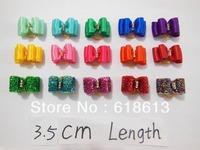 hot !Free Shipping 100 pcs/Lot  Bowknot  Dog Bows Mixed wholesale Dog  pet Hair bows dog cute Hair Bows