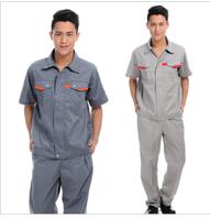 20sets [Free ship] Summer work wear short-sleeve set workwear work clothes work wear staff uniforms  factory uniforms full sets