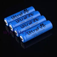 4Pcs/Lot UltraFire 14500 ( AA Battery ) 1200mAh 3.7V Protected Rechargeable li-ion Battery For flashlight 14500 - Free shipping