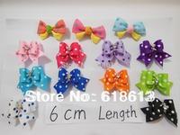100 pcs/Lot pet dog Bowknot nice Bows Mixed wholesale pet Hair bows dog cute Bows bright tiny bow  f