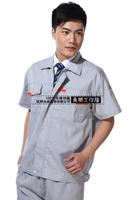 20sets [Free ship] Male summer short-sleeve work wear workwear tooling set 2013 casual uniform  factory uniforms full sets