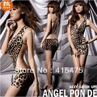 Leopard lycra leotard backless dress tights body suits catsuit no sleeve garter top women jumpsuit corset clothes girls skirt
