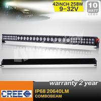 52 INCH 258W HYBRID CREE LED LIGHT BAR COMBO FOR OFF ROAD 4x4 TRUCK ATV UTE SECKILL 240W /260W