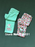 In Stock! Girls Cartoon Leggings, Kid wholesale flower prints leggings children cotton wear 5pcs/lot