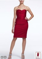 Free Shipping  Short Stretch Satin Dress with Sweetheart Neckline Style F15615 Evening/Homecoming/Prom Dresses In Stock