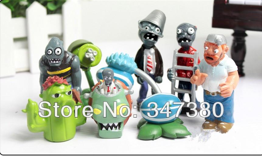 Retail planten vs zombies 1 set 1set 8pcs 1 5 3 gratis verzending