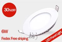 Fedex Free shiping special price white 6W round LED Panel Lights led ceiling light  100-240V 110mm 500 lumen,smd 2835,100pcs/lot