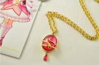 Brand New Puella Magi Madoka Magica Necklace Hangings Pink Crystal Pendant