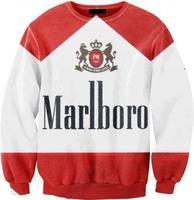 Harajuku Sexy Smoking 3D Digital Printed Crew Neck Sweatshirt 2014 New for Men Women Free Shipping -P10514