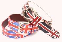 City Belt England Flag Buckle Belt Students Britain Flag Belts for Men U.K. Designer Male's Straps Canvas Belt Custmoized jean