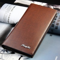 Pidengbao Travel Wholesale Mens PU Leather Wallet Credit Card Holder Long Clutch Wallets Money Bags 160186