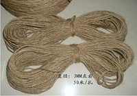 5*3mm*50m  natural jute twine hemp rope hemp cord decoration bondage hemp light making free shipping NEW