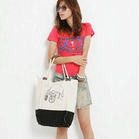 Hot selling 2013 casual handbag one shoulder the handle canvas bag  women handbags