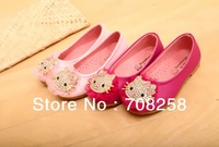5 pairs/lot -2014 fashion baby shoe spring girls lovely diamond hello kitty KT shoes  601