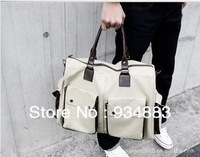 Free Shipping New Coming Men's Handbags Quality Classic Pure Color Canvas Bags Casual Shoulder Bag Large Capapcity Travel Bag