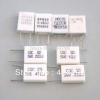 80pcs Ceramic Cement Power Resistor 5W  0.02ohm 0.03ohm 0.1ohm 0.15ohm 0.22 ohm 0.33ohm 0.47ohm