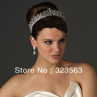 2014 Fashion romantic crystal tiara, free shipping!
