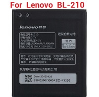 Mobile phone battery For Lenovo S820 S650 A750E A770E A656 A766 BL210 2000mAh original battery a100