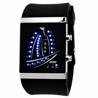 Fashion waterproof led   lovers  jelly electronic     cartoon watch minion free shipping