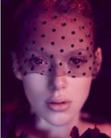 Lady gaga dot yarn lace veil mask party hair accessory hair bands hair accessory sexy  ,free shipping
