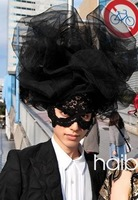 Lady gaga lace veil  ,free shipping