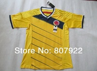 New 2014!!! Colombia Home Yellow Soccer Shirt,Player Version Thailand Quality Colombia Soccer Jersey+Free Shipping