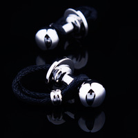 Free shipping new 2014 male shirt cufflinks black rope nail sleeve cuff French button silver cuff links designer brand