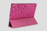 9 color Stone styles Leather case for iPad 2 3 4