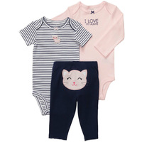 TZ198 Free Shipping Top Quality Carters Baby Girls Clothing Sets Cotton Infant Clothing New Children Suit Wholesale And Retail