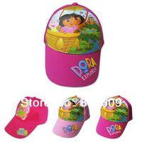 3D Beautiful design DORA  Hats Boys Children Cartoon  Outdoor cap Adjustable Baseball Cap   hot sale free shipping 10pcs/lot