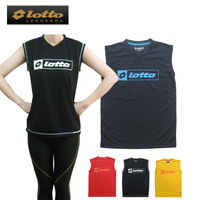 Lovers short-sleeve design quick-drying sports running T-shirt sleeveless vest quick dry perspicuousness badminton
