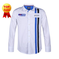 Free shipping Mens Designer Stripes Dress Shirts Tops Casual Slim Long Shirts Size: S M L XL XXL