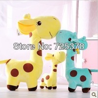 Free mail 2014 small giraffe figurines color hart plush toy doll birthday present brown spots multi-color optional